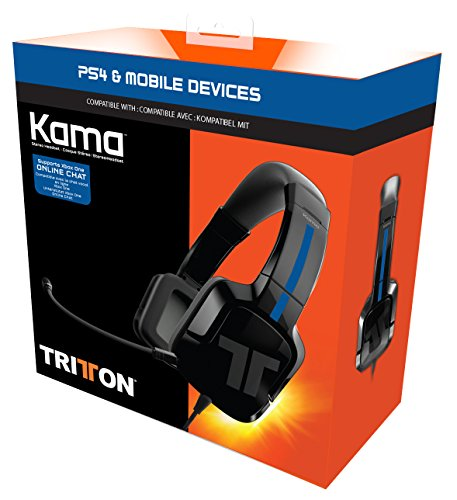 Tritton Kama Stereo Headset, schwarz - [PlayStation 4, PS VIta]