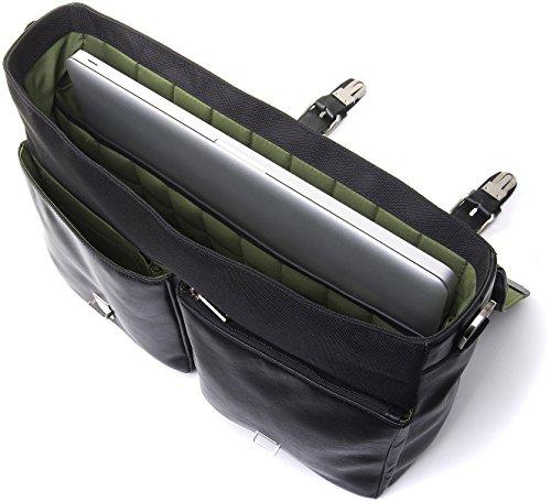 """Knomo 54-100-BRN Jackson Cartable cuir pour MacBook Pro et ordinateurs portables 15"""" Marron Marron"""