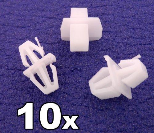 10x Clips Agrafes Plastique - Volvo V40 S40 Bordure Caisse Pince - Clip Fixation Pour Côté Jupe & Bordure (30808521) - LIVRAISON GRATUITE!