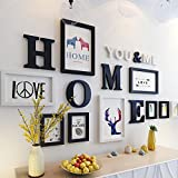 #10: WollWoll Home Letters Wildlife Animals Theme Large Wall Decoration Photo Frame Set (155 cm x 1.6 cm x 83 cm)
