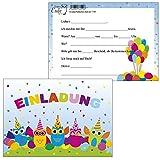 10 Einladungskarten Party Eulen