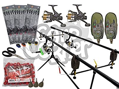 Complete Carp Fishing Set up With Matching Rods Reels & Alarms Plus Tackle NGT by NGT