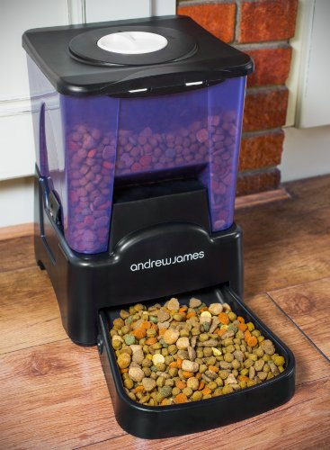 Andrew James Automatic Pet Feeder | Extra Large Pet Food Dispenser with Timer | 10.6L 90 Day Capacity | 10 Portion Sizes… 8