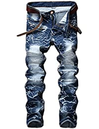 e4263265 AIYINO Mens Slim Fit Straight Leg Stretchable Denim Jeans Pants All Waist