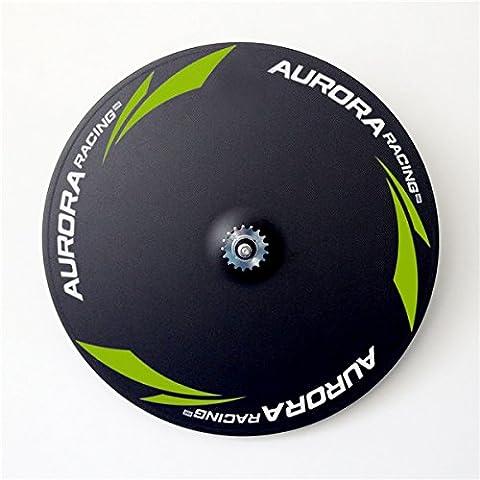 Aurora Racing 100% fabriqué à la main pour pneu piste 5Spoke-disc Roues léger pour piste Roue de vélo 700C (5S Track avant + disque Track Roues arrière), 5s Front Wheels+Disc Rear Wheels