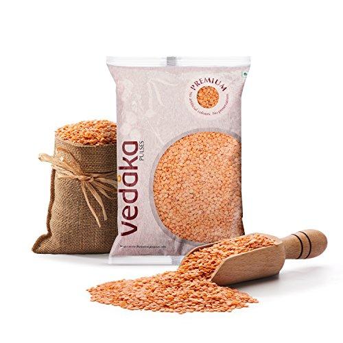 Amazon Brand – Vedaka Premium Red Masoor Dal Split, 1 kg