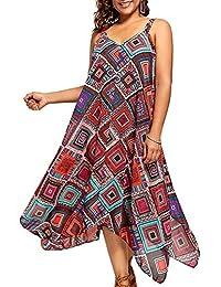 Samber Faldas Largas Mujeres Verano Casuales de Playa Vestidos Largos de Fiesta de Talles Grandes Diseño
