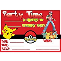 POKEMON CHILDRENS BIRTHDAY PARTY INVITES INVITATIONS X 10 PACK ENVELOPES