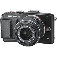Olympus Pen E-PL6 Systemkamera (16 Megapixel, 7,6 cm (3 Zoll) Touchscreen, bildstabilisiert) Kit inkl. 14-42 mm Objektiv schwarz