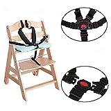 Ruiyingbaby 5 Point Harness Ceinture de sécurité Ceintures de sécurité pour la poussette Chaise haute(Noir)