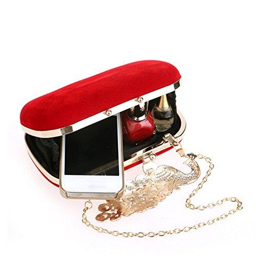 Eysee, Poschette giorno donna Rosso nero 16cm*11cm*4.5cm rosso