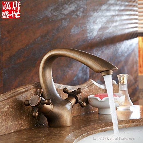 Preisvergleich Produktbild SADASD Robinet de lavabo Ensemble de cuvette en cuivre Ensemble de lavabo Ensemble de robinetterie pour salle de bains (eau chaude et froide)