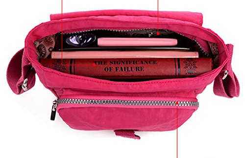 SUXCGE NylonBag, Borsa a spalla donna Rose Red 02 taglia unica Watermelon Red 01