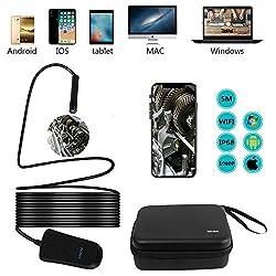 Endoskopkamera Android USB WIFI Endoskop Handy Boroskop mit HD1080P CMOS IP68 Wasserdichte Kamera für Android und IOS Smartphone, iPhone, Samsung, Tablet-5 Meter
