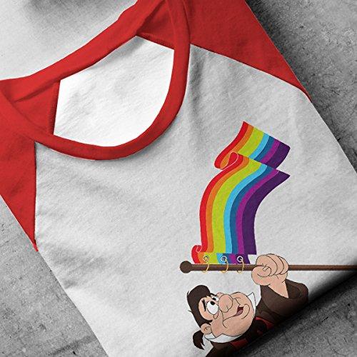 Le Fou Pride Flag Beauty And The Beast Men's Baseball Long Sleeved T-Shirt White/Red