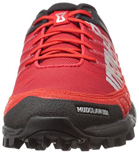 Inov-8 Mudclaw 300 Fell Chaussure De Course à Pied (Precision Fit) - AW16 Noir/Rouge