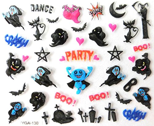 Générique Nail Art Autocollants Stickers Ongles: Décorations Halloween fantômes