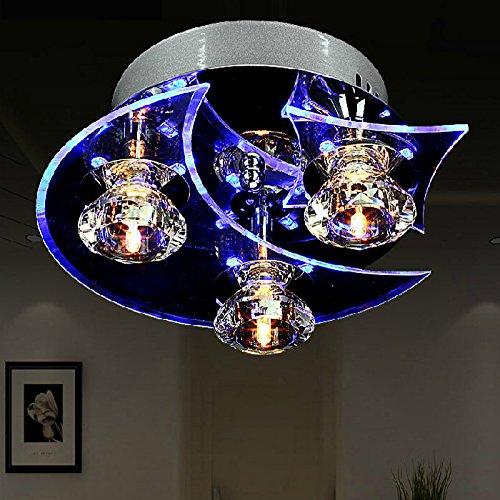 Kristall Kronleuchter Mode Schlafzimmer Lampe Persönlichkeit LED Gang Deckenleuchte,3Bulb