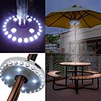 Amazon under 15 umbrella lights outdoor lighting lighting patio umbrella lights parasol lightswireless lamp with 24 4 led aloadofball Image collections