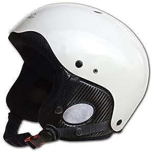 Charly Breeze, casque parapente/ski (visière optionnelle), blanc brillant, taille S