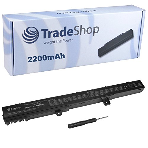 Trade-Shop Premium Li-Ion Akku, 14,4V/14,8V / 2200mAh ersetzt Asus A31N1319 A41N1308 A41-D550 0B110-00250100M X45LI9C für Asus A551C A551CA D550C D550CA F451C F451CA F551C F551CA F551CM P451C P451CA P551C P551CA R411C R411CA R512C R512CA