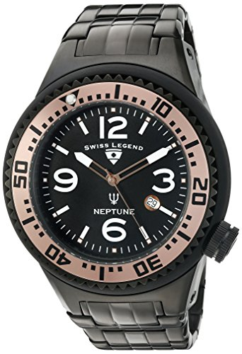 Swiss Legend Men's 'Neptune Force' Swiss Quartz Stainless Steel Casual Watch 21819P-BB-11-RA