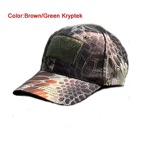 Outdoor Adjustable Baseball Velcro Cap Kryptek Camo Duty Hat (5 Colors) for Military Army Tactical Sports Operator Hunting Camping shooting Test