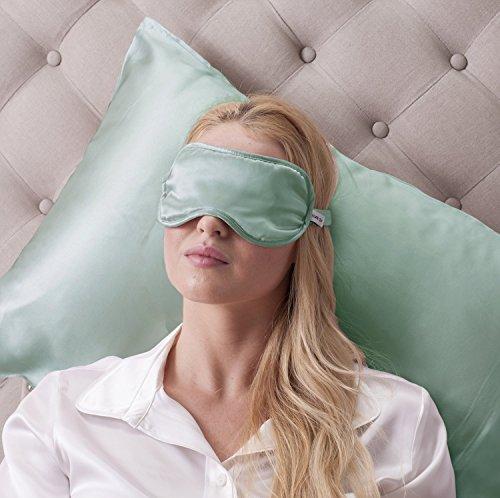 Jasmine Silk - Antifaz para dormir, 100% seda, con correa ajustable y cómoda, color lavanda