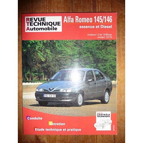 RRTA0595.1 - REVUE TECHNIQUE AUTOMOBILE ALFA ROMEO 145/146 Essence 1.3l et 1.6l Boxer et Diesel 1.9TD