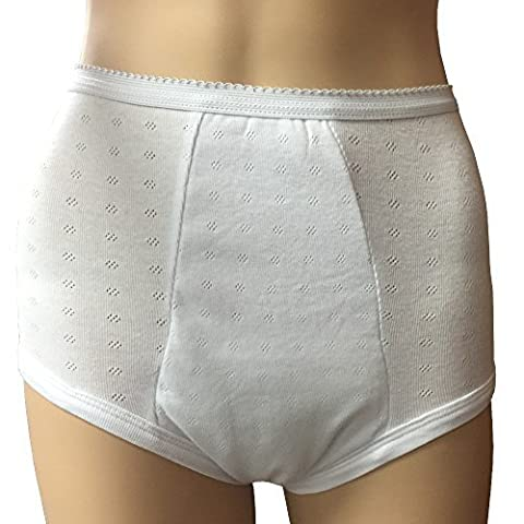 Betey's Incontinence Underwear Panty for Women (Super Protection) - Washable & Reusable Ladies Underwear for Moderate to Heavy Leakage (Medium) by Betey's