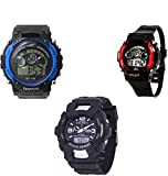 #9: Users SHOCK-Sports2+1 DSS-Kids Digital Watch - For Boys & Girls Set of 3 Watches