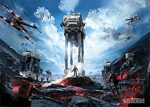 Star Wars XXL Poster Battlefront (140cm x 100cm) + Original tesa Powerstrips® (1 Pack/20 STK.) (Original Wars Poster Star)