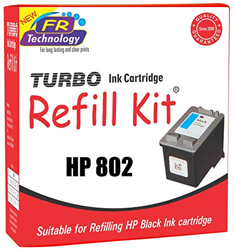 Turbo Ink Cartridge Refill Kit For Hp 802 Black
