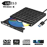 Graveur DVD Externe USB 3.0 Lecteur CD/DVD Portable CD DVD +/-RW ROM Graveur Ultra Slim Compatible...