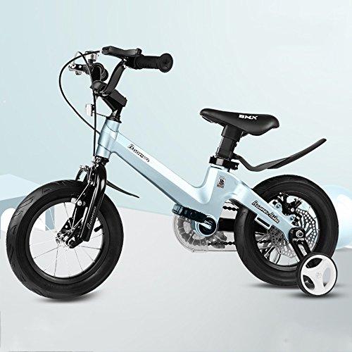 LVZAIXI ROYAL BABY TASTEN FREESTYLE BMX KIDS BIKES IN 11 FARBEN - IN GRÖßE 12,14,16,18 ZOLL MIT SCHWEREN ABNEHMBAREN STABILISATOREN. ( Farbe : Blau , größe : 12Inch )