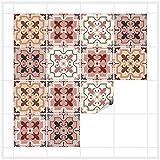 FoLIESEN Fliesenaufkleber 15x15 cm - Fliesen-Folie Bad - Klebefolie Küche - Patchwork No.1-16 Klebefliesen
