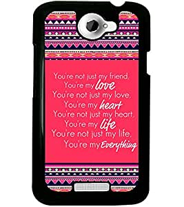 ColourCraft Quote Design Back Case Cover for HTC ONE X