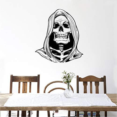 Wuyyii Scary Death Skull Halloween Dekoration Wandaufkleber Halloween Zimmer Spaß Leben Spiel Decor Ghost Home Dekoration Wandkunst