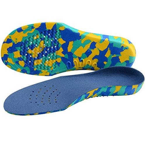 SOUMIT Kid\'s Einlegesohlen   EVA Orthopädische Schuheinlagen Frischesohlen mit Fußgewölbe, Maximaler Halt für Junge Füße (M Länge: 14,3CM, Fit für Babys Alter: 2-4 Jahre Alt)