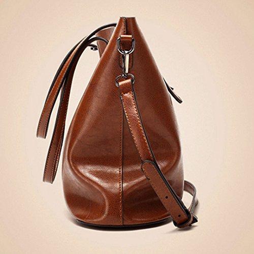 Millya, Borsa a spalla donna, Brown (marrone) - bb-00343-01 Belge