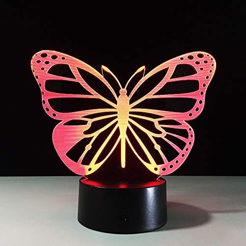 Preisvergleich Produktbild YDBDB Schmetterlings-3D führte Lampen-Nachtlichter geführte Usb-Energie-Bank-Nachtlampe führte Nachtlicht-Batterie-Nachttisch