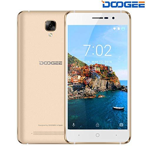 DOOGEE X10S Smartphone Offerta del Giorno - 5.0 Pollici, 3360mAh Batteria, 8GB ROM Dual Sim Cellulari Offerte Android 8.1, 5MP + 2MP Fotocamera, 3G Smartphone Economici in offerta - Oro