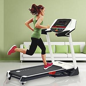 AsVIVA Laufband T14 App Bluetooth, klappbar, 5,0 PS und 0-15% Steigung, Fitnesscomputer, Soundsystem, Tablet & Smartphone Halterung, Heimtrainer und Fitnessgerät