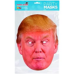 Rubie's - Donald Trump, máscara de disfraz, talla única (DTRUM01)