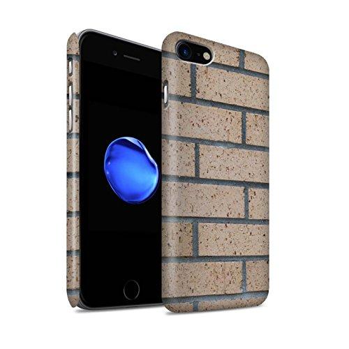 STUFF4 Matte Snap-On Hülle / Case für Apple iPhone 8 / Blass/Weiß Muster / Mauerwerk Kollektion Neue/Gelb