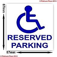 discapacitados reservados Aparcamiento–Adhesivo Discapacidad wheelchair- Movilidad señal adhesiva
