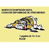 PEGATINAS STICKERS DOG PERRO VALENTINO ROSSI REF: FD122 AUFKLEBER DECALS AUTOCOLLANTS ADESIVI MOTO DECALS MOTORCYCLE (6x2.3 CM ANCHO/WIDTH)