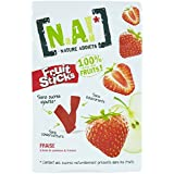 NA! NATURE ADDICTS Sachet de Fruit Stick Fraise 40 g - Lot de 5