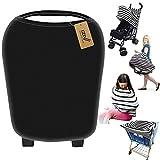 iZiv Ultrasoft 4-en-1 Multi-usages Bébé Housse Elastique Canopy/Housse d'allaitement/Couverture Panier d'achat/Echarpe Durable Cadeau pour Bébé (Couleur-2)