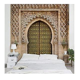 Apalis Vliestapete Oriental Gate Fototapete Quadrat   Vlies Tapete Wandtapete Wandbild Foto 3D Fototapete für Schlafzimmer Wohnzimmer Küche   Größe: 192x192 cm, beige, 95427
